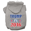 Mirage Pet Products Trump in 2016 Election Screenprint Pet Hoodies Grey Size XXXL(20)