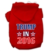Mirage Pet Products Trump in 2016 Election Screenprint Pet Hoodies Red Size XS (8)