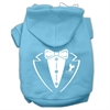 Mirage Pet Products Tuxedo Screen Print Pet Hoodies Baby Blue Size XS (8)