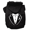 Mirage Pet Products Tuxedo Screen Print Pet Hoodies Black Size XL (16)