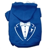 Mirage Pet Products Tuxedo Screen Print Pet Hoodies Blue Size Lg (14)