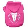Mirage Pet Products Tuxedo Screen Print Pet Hoodies Bright Pink Size Med (12)