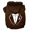 Mirage Pet Products Tuxedo Screen Print Pet Hoodies Brown Size XL (16)