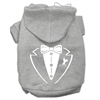 Mirage Pet Products Tuxedo Screen Print Pet Hoodies Grey Size XXXL (20)