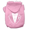 Mirage Pet Products Tuxedo Screen Print Pet Hoodies Light Pink Size Med (12)