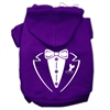 Mirage Pet Products Tuxedo Screen Print Pet Hoodies Purple Size Med (12)