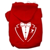 Mirage Pet Products Tuxedo Screen Print Pet Hoodies Red Size XS (8)