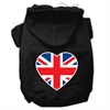Mirage Pet Products British Flag Heart Screen Print Pet Hoodies Black Size Lg (14)
