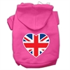 Mirage Pet Products British Flag Heart Screen Print Pet Hoodies Bright Pink Size Sm (10)