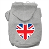 Mirage Pet Products British Flag Heart Screen Print Pet Hoodies Grey Size XL (16)