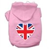 Mirage Pet Products British Flag Heart Screen Print Pet Hoodies Light Pink Size Sm (10)