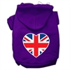 Mirage Pet Products British Flag Heart Screen Print Pet Hoodies Purple Size Sm (10)