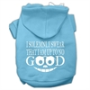 Mirage Pet Products Up to No Good Screen Print Pet Hoodies Baby Blue Size Lg (14)