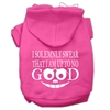 Mirage Pet Products Up to No Good Screen Print Pet Hoodies Bright Pink Size Med (12)