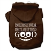 Mirage Pet Products Up to No Good Screen Print Pet Hoodies Brown Size Lg (14)