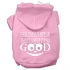 Mirage Pet Products Up to No Good Screen Print Pet Hoodies Light Pink Size Lg (14)