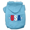 Mirage Pet Products USA Star Screen Print Pet Hoodies Baby Blue Size Med (12)