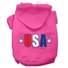 Mirage Pet Products USA Star Screen Print Pet Hoodies Bright Pink Size Med (12)