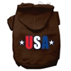 Mirage Pet Products USA Star Screen Print Pet Hoodies Brown Size Sm (10)