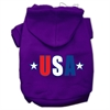 Mirage Pet Products USA Star Screen Print Pet Hoodies Purple Size Sm (10)