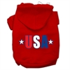 Mirage Pet Products USA Star Screen Print Pet Hoodies Red Size Sm (10)