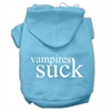 Mirage Pet Products Vampires Suck Screen Print Pet Hoodies Baby Blue Size XXXL(20)