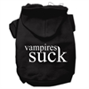 Mirage Pet Products Vampires Suck Screen Print Pet Hoodies Black Size XL (16)