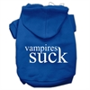 Mirage Pet Products Vampires Suck Screen Print Pet Hoodies Blue Size M (12)