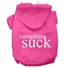 Mirage Pet Products Vampires Suck Screen Print Pet Hoodies Bright Pink Size S (10)