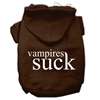 Mirage Pet Products Vampires Suck Screen Print Pet Hoodies Brown Size Sm (10)