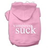 Mirage Pet Products Vampires Suck Screen Print Pet Hoodies Light Pink Size XS (8)