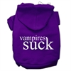 Mirage Pet Products Vampires Suck Screen Print Pet Hoodies Purple Size XXXL(20)
