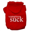 Mirage Pet Products Vampires Suck Screen Print Pet Hoodies Red Size S (10)