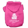 Mirage Pet Products Wedding Crasher Screen Print Pet Hoodies Bright Pink Size Med (12)