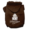 Mirage Pet Products Wedding Crasher Screen Print Pet Hoodies Brown Size Sm (10)