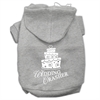 Mirage Pet Products Wedding Crasher Screen Print Pet Hoodies Grey Size XL (16)