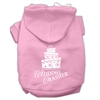 Mirage Pet Products Wedding Crasher Screen Print Pet Hoodies Light Pink Size XS (8)