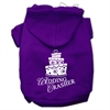 Mirage Pet Products Wedding Crasher Screen Print Pet Hoodies Purple Size XS (8)