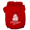Mirage Pet Products Wedding Crasher Screen Print Pet Hoodies Red Size XS (8)