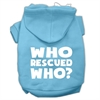 Mirage Pet Products Who Rescued Who Screen Print Pet Hoodies Baby Blue Size XS (8)