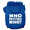 Mirage Pet Products Who Rescued Who Screen Print Pet Hoodies Blue Size XXXL (20)