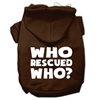 Mirage Pet Products Who Rescued Who Screen Print Pet Hoodies Brown Size XS (8)