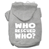 Mirage Pet Products Who Rescued Who Screen Print Pet Hoodies Grey Size XL (16)