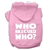 Mirage Pet Products Who Rescued Who Screen Print Pet Hoodies Light Pink Size XL (16)