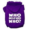 Mirage Pet Products Who Rescued Who Screen Print Pet Hoodies Purple Size XS (8)