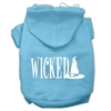 Mirage Pet Products Wicked Screen Print Pet Hoodies Baby Blue Size XXXL(20)