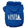 Mirage Pet Products Wicked Screen Print Pet Hoodies Blue Size M (12)