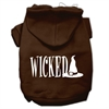 Mirage Pet Products Wicked Screen Print Pet Hoodies Brown Size Med (12)