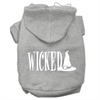 Mirage Pet Products Wicked Screen Print Pet Hoodies Grey Size XL (16)