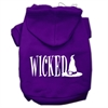 Mirage Pet Products Wicked Screen Print Pet Hoodies Purple Size S (10)